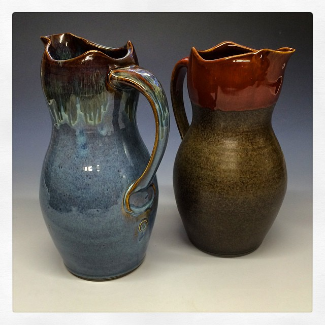Ceramic Pitchers with Spouts