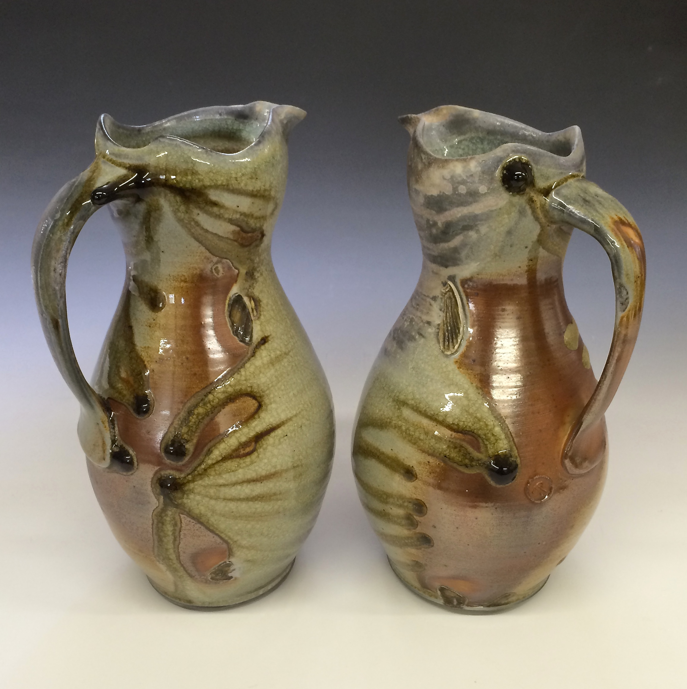 Wood Fired Pitchers Todd Pletcher Pottery